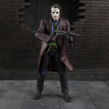 18cm cosplay NECA Batman The Dark Knight Joker Heath Ledger PVC Action Figure model toys for kids gifts