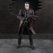 Cosplay figurine NECA Batman, The Dark Knight Joker, Heath Ledger, en PVC, jouet modèle daction, 18cm, cadeaux pour enfants