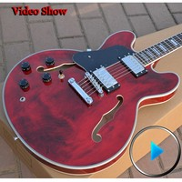 Custom Shop ES 335 Left Handed Guitar Hollow Body Musical Instruments Chinese Jazz Electric Guitar Free