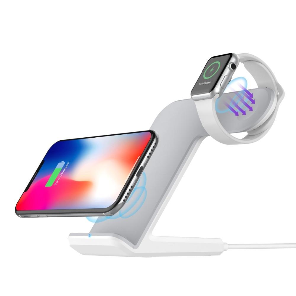 Youbina 2in1 double Qi Sans Fil Chargeur De Dock de Charge Pour Apple Montre 4 3 2 1 iPhone X 8 xs max xrYoubina 2in1 double Qi Sans Fil Chargeur De Dock de Charge Pour Apple Montre 4 3 2 1 iPhone X 8 xs max xr