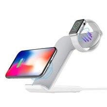 Youbina 2in1 Двойной Qi Беспроводной Зарядное устройство Зарядка для док-держатель для Apple Watch 4 3 2 1 iPhone X 8 xs max xr