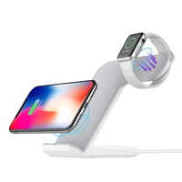 Youbina 2in1 dual Qi Wireless Charger Charging Dock Holder For Apple Watch 4 3 2 1 iPhone X 8 xs max xr
