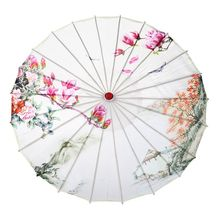 Chinese Oil Paper Umbrella For Classical Cheongsam Performing Dance Umbrella Photo Props Landscape Painting Parasol Decorative free shipping magpies red plum blossom painting waterproof and sunshade dance props collection and gift oiled paper umbrella