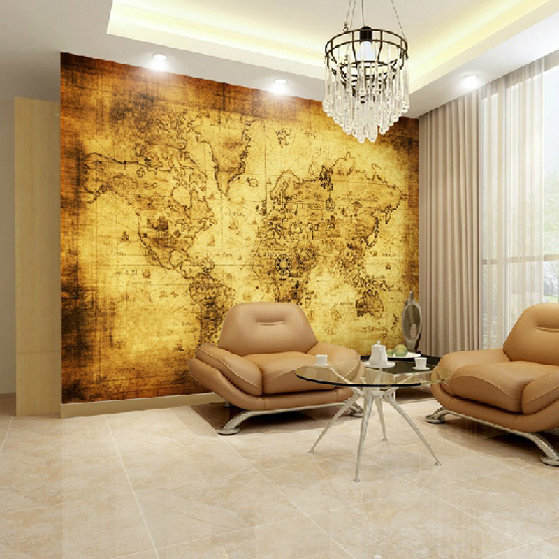 Desktop Wallpaper World Map: Beibehang Custom Large Mural Hotel Bedroom Living Room TV