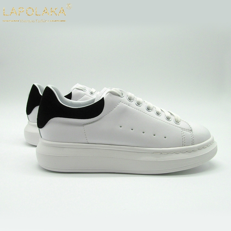 LAPOLAKA luxury brand 2019 Ins Fashion bloggers big size 44 chic Sneakers genuine leather flats leisure women Shoes Casual Shoes(China)