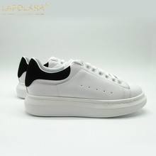 0b824b988c LAPOLAKA luxury brand 2019 Ins Fashion bloggers big size 44 chic Sneakers  genuine leather flats leisure women Shoes Casual Shoes