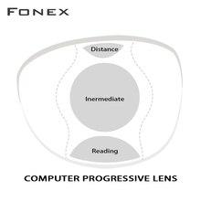 عدسات مكتب تقدمية 1.56 1.61 مع منطقة رؤية كبيرة وواسعة لاستخدام المسافة المتوسطة مثل قراءة الكمبيوتر