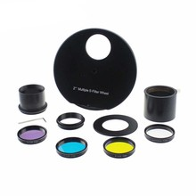 Promo offer 2Inch 5 Positions Manual Filter Wheel 2Inch Lrgb Filter-deep space planetary telescope filter wheel (Manual) Monocular Binocular