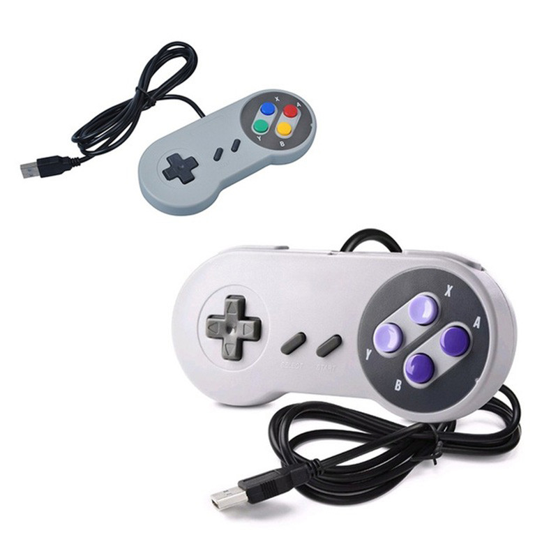 Classic Wired Game Controller Wired USB Controller Gaming Joypad Joystick For SNES Style For PC Window 7/8/10 Gamepad For Mac