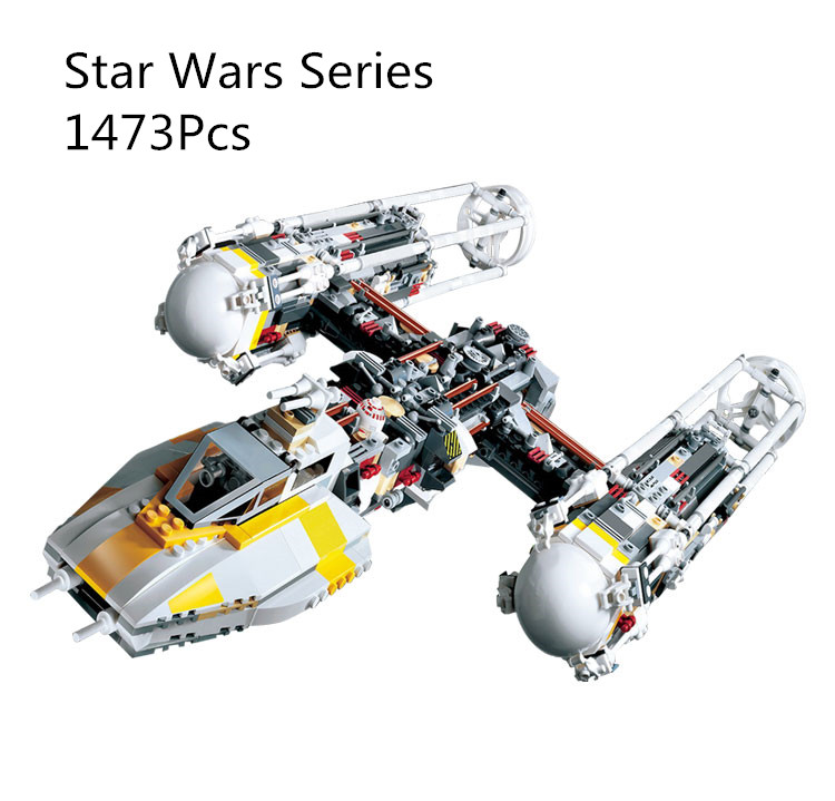 CX 05040 1473Pcs Model building kits Compatible with Lego 10134 MOC Y-wing Attack Starfighter 3D Bricks figure toys for children lepin 05040 y attack starfighter wing building block assembled brick star series war toys compatible with 10134 educational gift