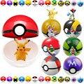 Pokeball Фигурку Игрушки 7 см 1 шт. Pokeball + 1 шт. Случайных Доставки Мастер Рисунок, аниме Brinquedos, игрушки Для Детей, 13 стилей