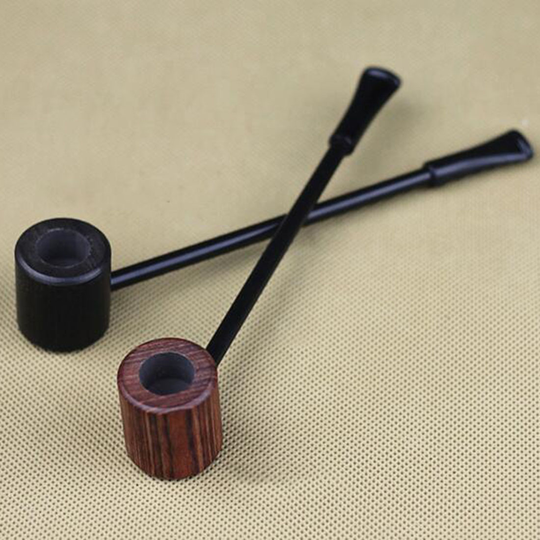 2018 New High Quality Grade Fashion Long Ebony Wood Smoking Pipes Popeye Tobacco Cigarettes Cigar Pipes