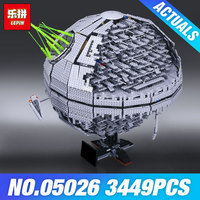 LEPIN 05026 Death Toys Star Plan 10143 The second generation Wars 3449pcs Building Block Bricks Educaitonal Children DIY Gifts