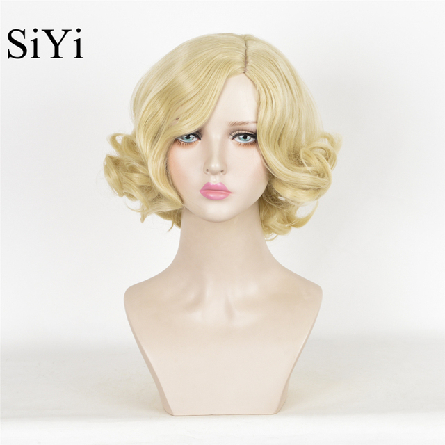 Anime Cosplay Cinderella Synthetic Wigs Short Blonde Wavy Wig Queen Weave  Beauty Fashion Party High Quality Wigs For Women cdbc8982220f