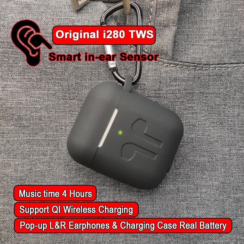 I280 TWS Bluetooth 5.0 écouteur PK H1 capteur intra-auriculaire contrôle du robinet écouteurs avec mise à niveau de charge sans fil i180 TWS PK i80 i200 TWS