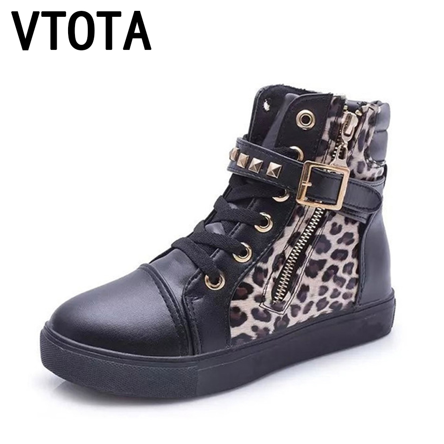 VTOTA Women Canvas Shoes Sneakers Women Lace-Up Autumn Spring Flower Print Platform Shoes Rivet Casual Shoes Espadrilles F34 glowing sneakers usb charging shoes lights up colorful led kids luminous sneakers glowing sneakers black led shoes for boys