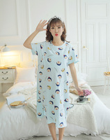 Pregnant women nightdress summer postpartum breastfeeding clothes nursing dress month pajamas cotton maternity out of home sleep