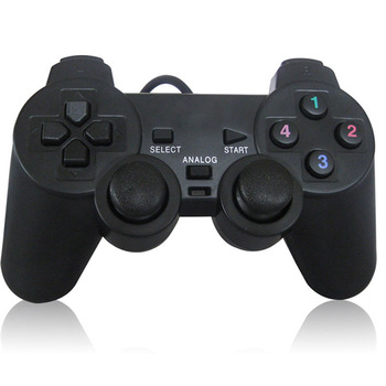 1PC Vibration Joypad Game Controller Gamepad USB Wired Joystick For PC Computer Laptop