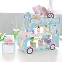 Ice Cream Van Stand Cars Display Stand For Cupcakes Candy Sweets For Kids Birthday Decoration Cupcake