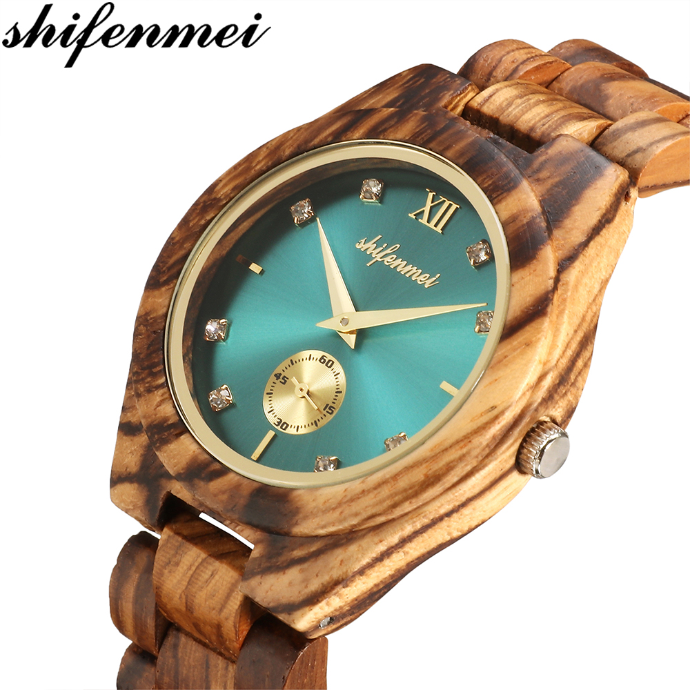 Shifenmei Watches Women Fashion 2019 Wood Watch Women Wooden Bracelet Clock Top Brand Quartz Ladies WristWatch Relogio Feminino