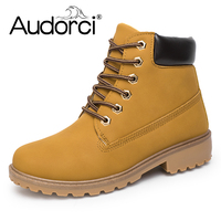 Audorci 2018 Spring Winter Women Ankle Boots Fashion Woman Snow Boots For Girls Ladies Work Shoes