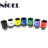 Nigel Style 7 Aluminum Metal Air Flow Control Drip Tip Adjustable Airflow 510 Drip Tips Mouthpiece For E Cigarette Atomizer
