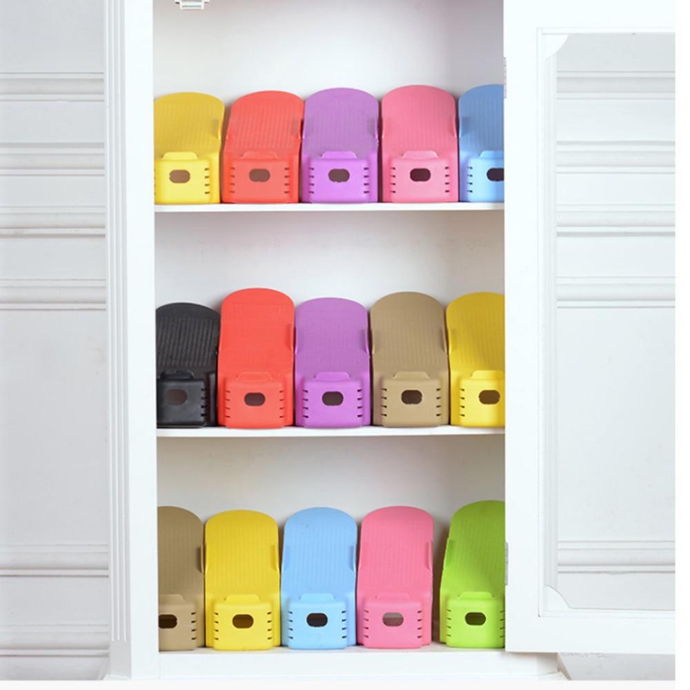 1 X Schuh Lagerung Stehen Regal Schuh Rack Organizer Raum Saver Halter Kunststoff Bequem Schuhkarton Schuhe Organizer Drop Verschiffen