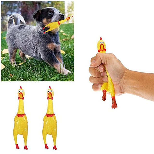 Screaming Chicken Squeeze Sound Toy Pets Dog Toys Product Shrilling Decompression Tool Squeak Vent chicken 1