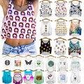 Mulheres Top Colheita Colhido Emoji Impressão Digital Camiseta Emoji Padrão Tees Meninas Blusa Tanque Vieira Camisa Hip Hop Colete Umbigo à mostra