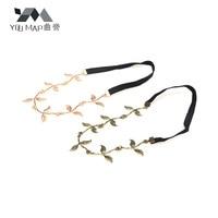 youmap золото оливковая ветвь листочками аксессуары для волос свадьбу эластичный диапазон волос a9r11c