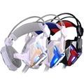 EACH G3100 HiFi Over-ear Vibration Game Headset Earphone Headband Fone Gaming Headphone Mic Deep Bass LED Light for PC Gamer