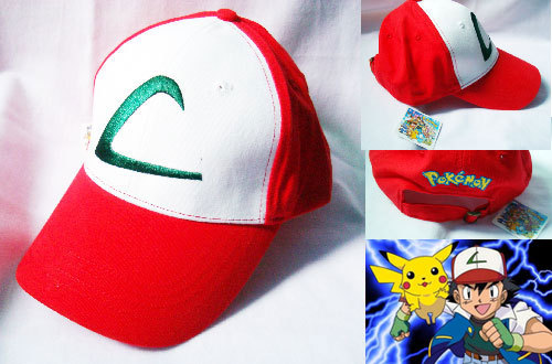 New Pokemon Ash Ketchum Trainer Costume Cap Cosplay HatNew Pokemon Ash Ketchum Trainer Costume Cap Cosplay Hat