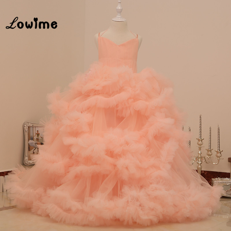 Cloud Puffy Pageant Dresses For Little Girls Vestido Longo 2016 Ball Gown Kids Evening Gowns Beauty Pageant Dresses Communion