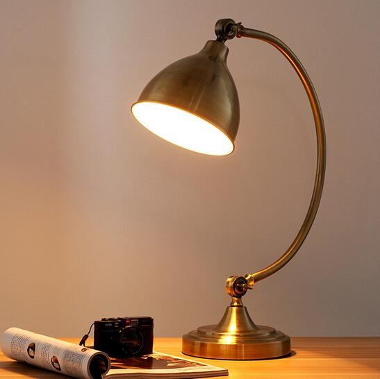 American Industrial Vintage Study Bedroom Table Light Loft Style ...