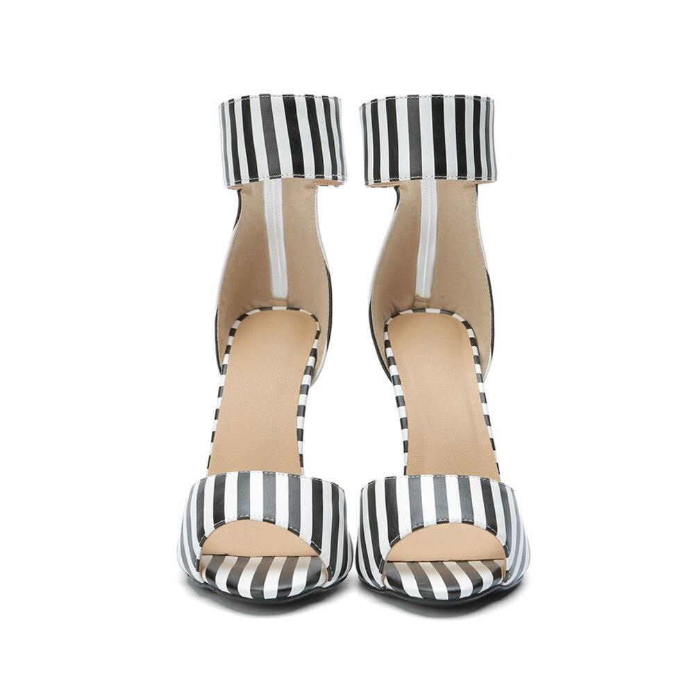 Différents Taille Vichy D'été 47 Pour Femme Marque Sandales Chaussures Nouvelle Noir Talons Grande Femmes 2019 Hauts Bonjomarisa 34 1g8PqtFF