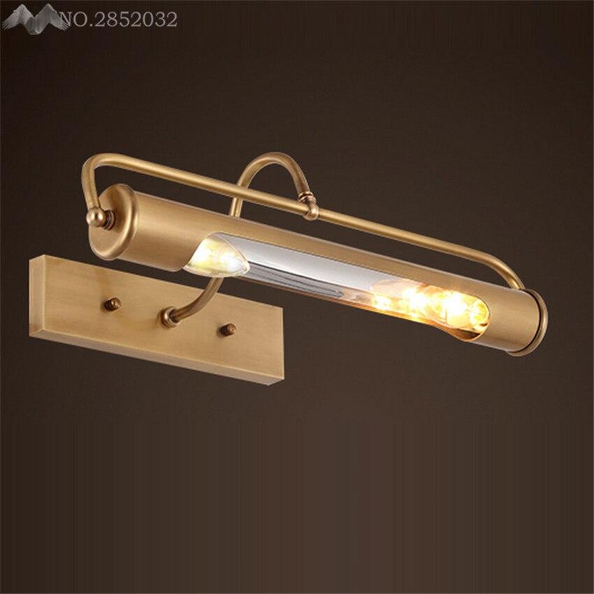 lfh europese stijl bronzen wandlamp spiegel koplampen dressoir