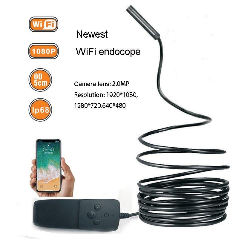 LETIKE Endoscopio WIFI Mini Macchina Fotografica HD 1080 P IP68 Semi-Rigido Tubo Endoscopio Endoscopio Wireless Video Ispezione per Android iOS