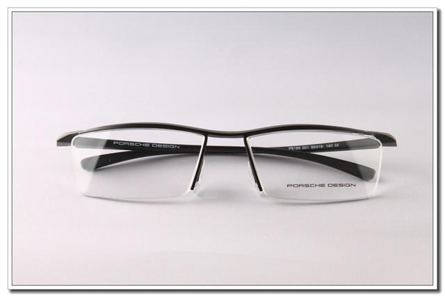 12266872484 New Fashion Eyeglass Frames Luxury Car Brand Design TR90 P8189 Black Coffee  Free Shipping Wholesale