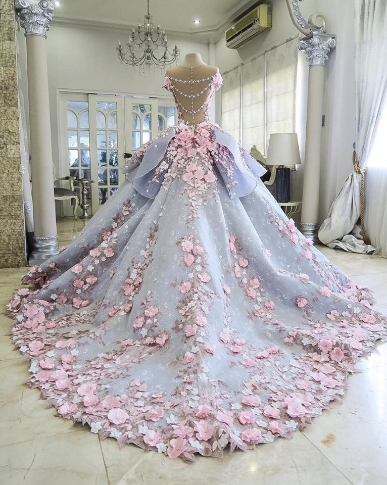 Dreamy Flower Princess Wedding Dresses 2017 Luxury Colorful Wedding ...