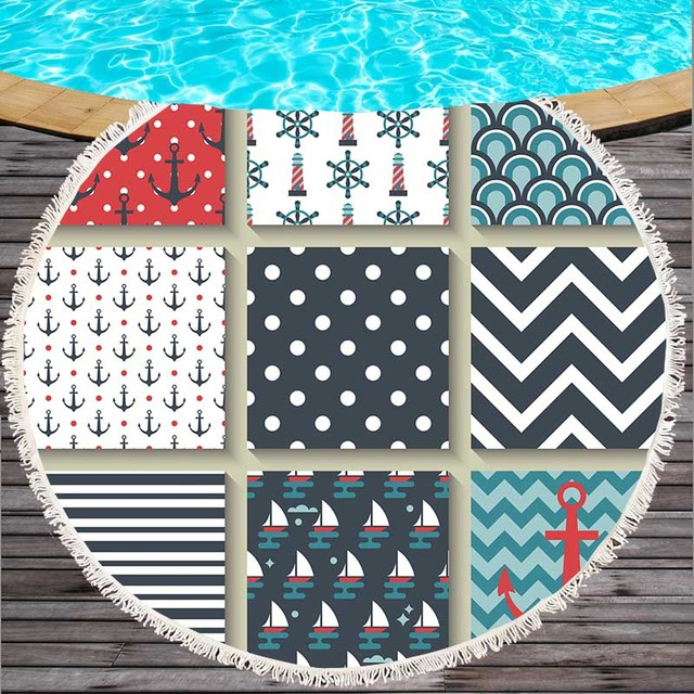 Patchwork Style Microfiber Beach Towel 3