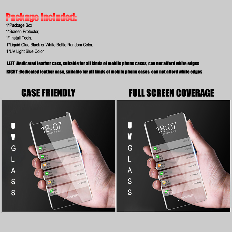 Image 3 - Ультрафиолетовый жидкий изогнутый полный клей покрытие закаленное стекло для Samsung Galaxy S8 S9 S10 Plus Note 8 9 10 Plus S10e Защитная пленка для экрана-in Защитные стёкла и плёнки from Мобильные телефоны и телекоммуникации