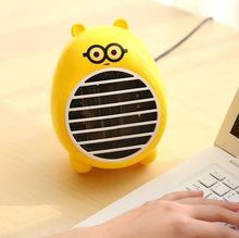 Free shipping Mini heater desktop cartoon Bathroom household electric Dormitory small