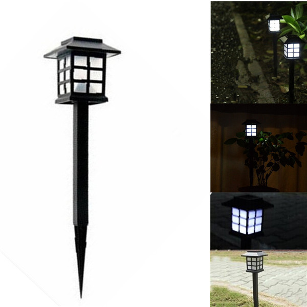 Waterproof Cottage Style White Led Solar Power Lamps Garden Light Lawn Landscape For Home