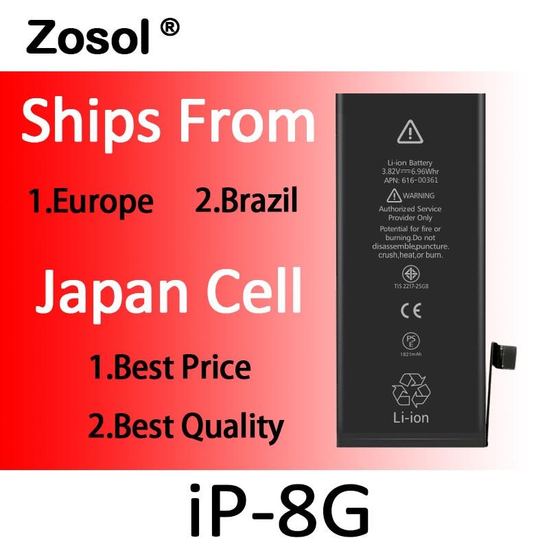 Zosol 10 ピース/ロット AAA 品質 0 ゼロ循環 iphone 8 バッテリー replacment 新 2019 本物の容量  グループ上の 携帯電話 & 電気通信 からの 携帯電話電池 の中 1