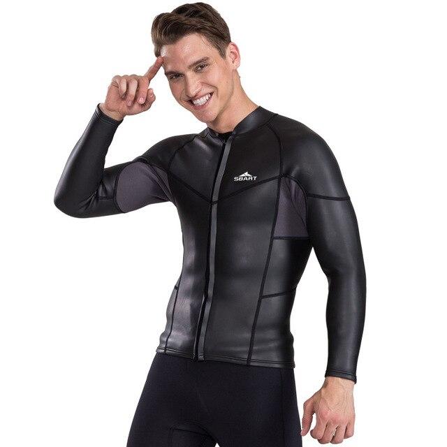 00296a84fb7822 Mannen 2mm neopreen wetsuit jas windsurf warm scube dive waterski  onderwatervissers sbart uv duiken jas