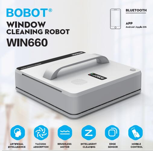Magnetic inside outdoor high tall window cleaning robot Win660 cleaner Automatic robot vacuum cleaner window cleaner