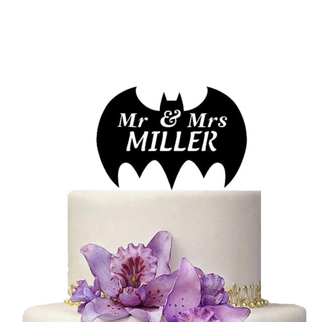 Personnalise Gateau De Mariage Topper Batman Decoration
