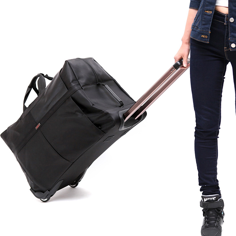 LeTrend عالية قدرة السفر أكياس الرجال الشركات المتداول الأمتعة للماء أكسفورد حقيبة عجلات عربة الطلاب جذع-في حقائب السفر من حقائب وأمتعة على  مجموعة 1