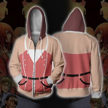 Kingdom Hearts Game Kairi Kelly Sweatshirts Hoodie Cosplay Costume Jackets Men Top Coat Zipper Hoded
