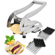 Stainless Steel French Fries Slicer Potato Chips Cutting Machine Slicer Chopper Cutting Machine Cutting 2 Blade Kitchen Gadget цена